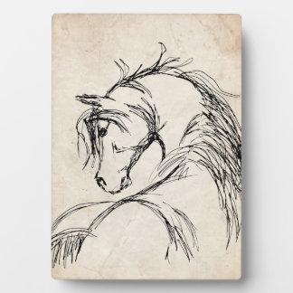 Artsy Horse Head Sketch Plaque