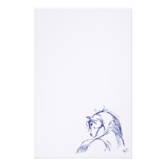 Artsy Horse Head Sketch Stationery