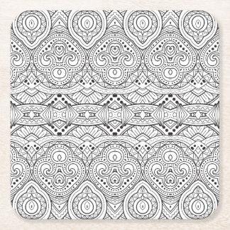 Artsy Inspired Design Square Paper Coaster