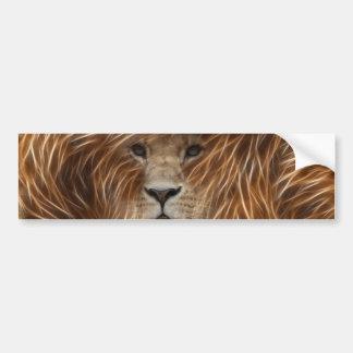 Artsy Lion Bumper Sticker