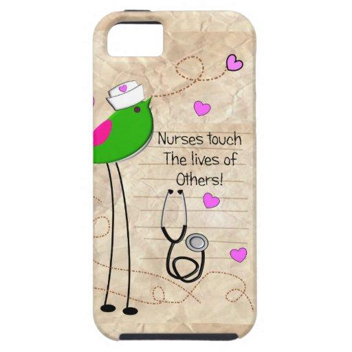 Artsy Nurse Bird iPhone 5 Case