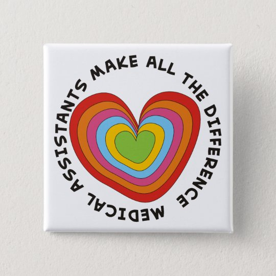 Artsy Nursing Assistant Buttons Hearts