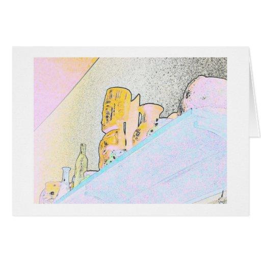 Artsy Objects on a Shelf Greeting Card