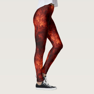 Artsy Orange Trees Leggings