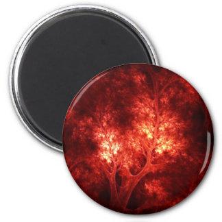 artsy_orange_trees 6 cm round magnet