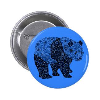 Artsy Panda Bear Round Button