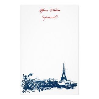 Artsy Paris Skyline Eiffel Tower Stationery