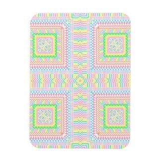 Artsy Pastel Tiles Rectangular Photo Magnet