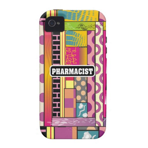 Artsy Pharmacist Gifts Case-Mate iPhone 4 Cover