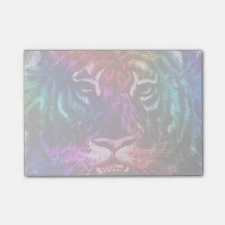 Artsy Rainbow Tiger Post-it Notes