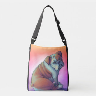 Artsy Sad Bulldog Crossbody Bag