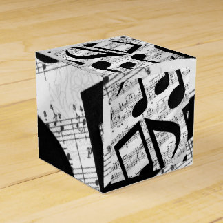 Artsy Sheet Music Favour Box
