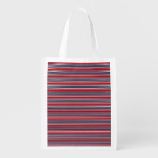 Artsy Stripes in Patriotic Red White and Blue