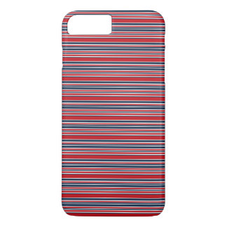 Artsy Stripes in Patriotic Red White and Blue iPhone 7 Plus Case