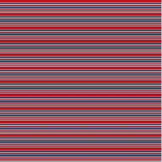 Artsy Stripes in Patriotic Red White and Blue Photo Sculpture Key Ring