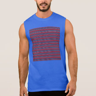 Artsy Stripes in Patriotic Red White and Blue Sleeveless Shirts