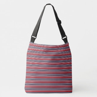 Artsy Stripes in Patriotic Red White and Blue Tote Bag