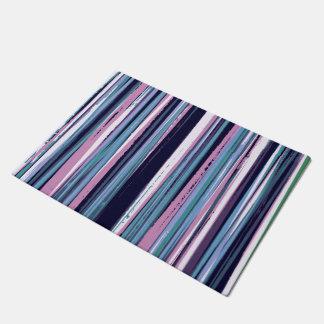 Artsy Stripes Pattern Doormat