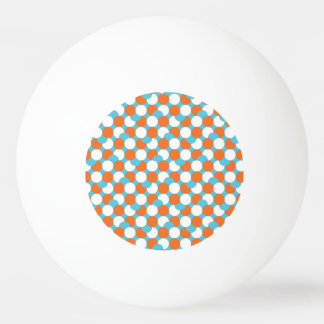 Artsy Teal & Orange Circles Ping Pong Ball