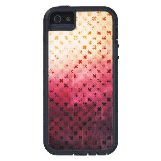 Artsy Vintage Pink Grunge Floral Cross Pattern Art iPhone 5 Cases