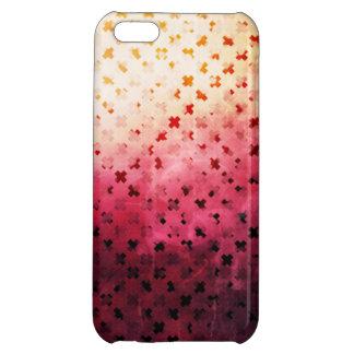 Artsy Vintage Pink Grunge Floral Cross Pattern Art Cover For iPhone 5C
