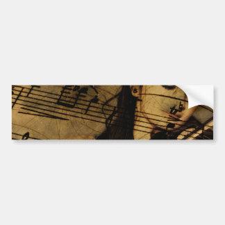 Artsy Violin Music Bumper Sticker
