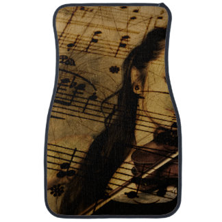 Artsy Violin Music Floor Mat