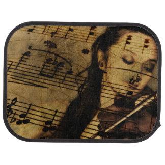 Artsy Violin Music Car Mat