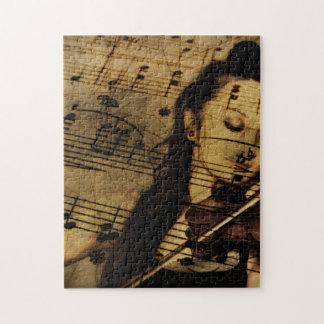 Artsy Violin Music Jigsaw Puzzle