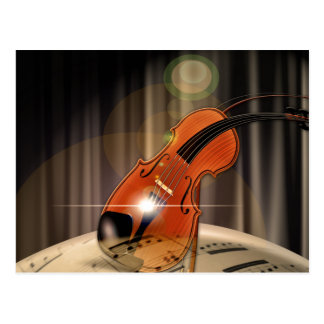 Artsy Violin Music Postcard