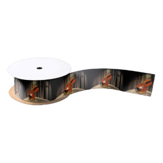 Artsy Violin Music Satin Ribbon