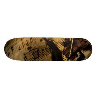 Artsy Violin Music Skateboard