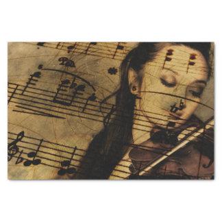 Artsy Violin Music Tissue Paper