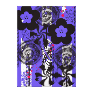 Artwork on canvas for girls room gallery wrapped canvas