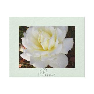 Artwork Rose Flower Decor White Green Gallery Wrap Canvas