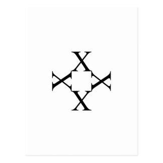 Artwork with alphabet X Postcard