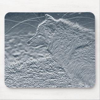 artwork wolf mouse mat