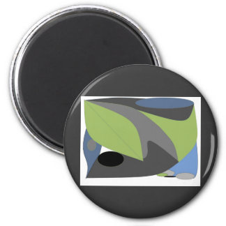 Arty Abstract 6 Cm Round Magnet