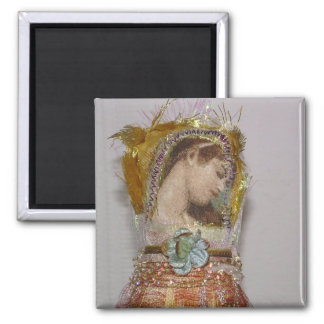 arty angel square magnet