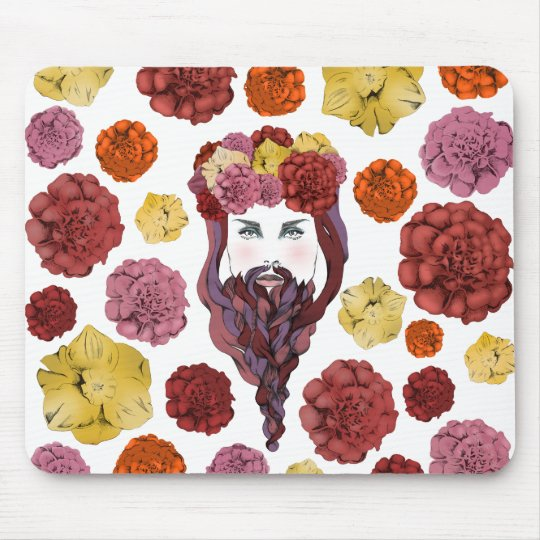 Arty Bearded Lady Mouse Mat