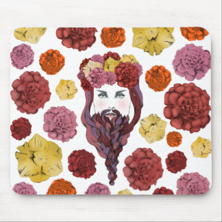 Arty Bearded Lady Mouse Pad