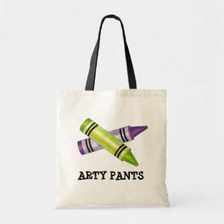 Arty Pants Artist Teacher Crayons Drawing Tote