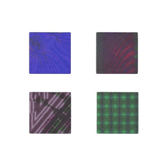 Arty Patterned Marble Magnets | Set of Four