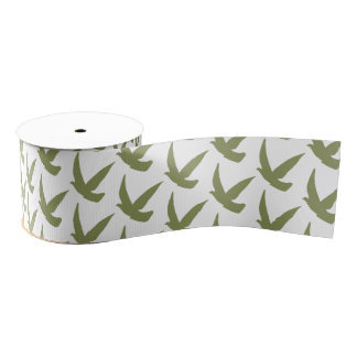 Arty ribbon bird grosgrain ribbon
