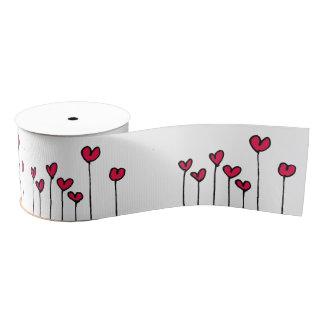 Arty ribbon heart grosgrain ribbon