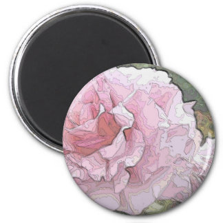 Arty Roses 6 Cm Round Magnet