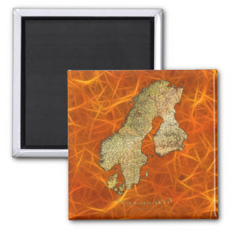 Arty Scandinavia Map Educational Gift Refrigerator Magnets