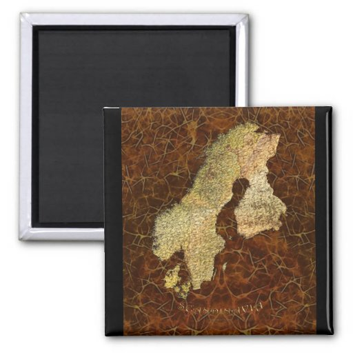 Arty Scandinavia Map Educational Gift Refrigerator Magnet
