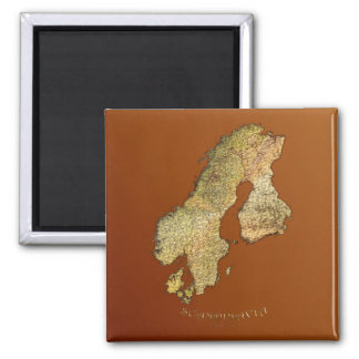 Arty Scandinavian Map Educational Gift Refrigerator Magnets