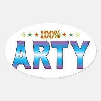Arty Star Tag v2 Sticker